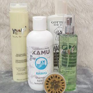 Shampoo ja hoitotarvikkeet